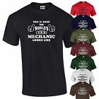 Mechanic T-Shirt Worlds Best Car Repair Gift  Birthday Present Mens Top S-XXL