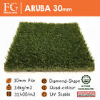30mm Aruba Artificial Grass - Our DENSEST Grass @ 3.6kg/sqm