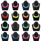 Fashion handmade woven Chinese knot cotton rope Fluorescent color necklace FMLK