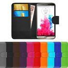 Leather Cover For LG G3 D850 D855 Flip Wallet Slim Phone Case + FREE Protector