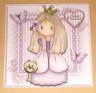 Handmade Greeting Card 3D All Occasion With A Princess And A Cat
