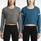 Nike Women's RU NTF Cropped Crew Long Sleeved Cotton Track & Field Sweatshirt