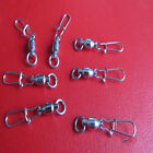 Silver Stainless Steel Ball Bearing Swivels Anti-rust Snap Pin 0/1/2/3/4/5/6#