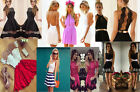 HOT! Womens Holiday Mini Playsuit Ladies Jumpsuit Summer Beach Dress Size 6 - 14