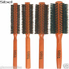 Sibel Wooden Classic Round Radial Hair Brush 100% Boar Bristles - Various Sizes