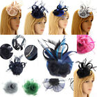 Ladies Fascinator Hair Clip Hat Women's Desinger Veil Hat Feather Mesh Wedding