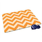 Orange Creamsicle Chevron Pattern - Tempered Glass Bar & Kitchen Cutting Board