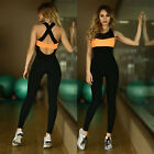 Fashion Ladies Sports Jumpsuit Running Yoga Gym Sexy Bodycon Sport Pants Trouser