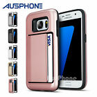 NEW Hybrid Heavy Duty Tough Card Case Clip Cover For Samsung Galaxy S6 S7 Edge