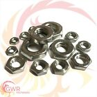 A2 Stainless Hexagon Half Nuts - M2 M2.5 M3 M4 M5 M6 M7 M8 M10 M12 - Thin - Lock