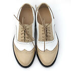 Leather Ladies Lace up Shoes Women Oxford Flats Wing Tip Brogue Shoes boyfriends