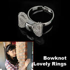 Adjustable Silver Gold Plated Mesh Bow Bowknot Finger Ring Lady Jewelry