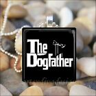 """THE DOGFATHER"" DOG LOVER GODFATHER PARODY GLASS PENDANT NECKLACE KEYRING"