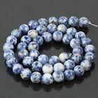 Sodalite Round Gemstone Loose Bead 6 8 10 12mm Stone For Bracelet/Necklace 15""
