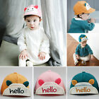 Baby Summer Cotton Hat 1-3Years Sun Baseball Cap Unisex Boys Girls Newborn Hat