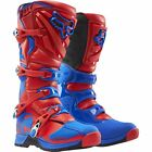 Fox Adults Comp 5 MX Motocross Enduro Off Road Quad Boots - Red/ Blue - NEW!!!