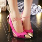 Women Fashion Stilettos High Heels Patent Leather Party Club Pumps Pointed Shoes