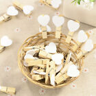Wooden Craft Mini Pegs White Coloured Card Wedding Photo 50 to 100