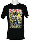 Iron Maiden Eddie Faces T-shirt Rock Band Graphic Tee Black Preshrunk NWT image