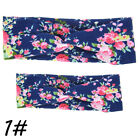 Mother & Me Twisted Headband Set Baby Floral Bow Hairband Turban Knot Head Wrap
