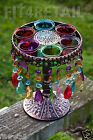 Moroccan Style Bejewelled Lamp Lantern on Stand Tealight Candle Holde