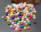 Acrylic Flat Back Pearls ~ Mixed, Choose size ~ Cabochons Embellishments Crafts