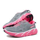 Womens Hoka One One Clifton 2 Running Shoes Grey Neon Pink