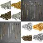 Eye Pin Flat Head Pin Ball Pin Finding 20mm 30mm 40mm 50mm 60mm silver gold brow