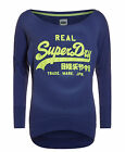 New Womens Superdry Factory Second Vintage Logo Burnout Top