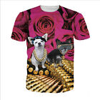 Newest Fashion Women/Mens Guns and Roses Funny 3D Print Casual T-Shirt