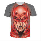 Newest Fashion Women/Mens Man Without Fear Funny 3D Print Casual T-Shirt