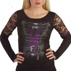 Spiral Direct VITA CORSETTO Pizzo Top Manica Lunga Gotico Alternative Donna