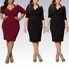 Sexy Women Off Shoulder Dress V Neck Half Sleeve Ruched Hip Package Dresses