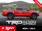 (2x) TRD 4x4 OFF ROAD Toyota Tacoma Tundra 2016 Vinyl Bed Side Decals Stickers