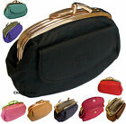 Womens Girls Ladies Quality Pigskin Leather Clasp Close Coin Purse Money Pouch