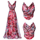 Wedding Guest Floral Evening Gowns Party Formal Bridesmaid PROM Maxi Long Dress