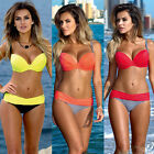 New Sexy Women Bikini Set Swimwear Bandeau Push Up Padded Bra Swimsuit Beachwear