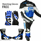 HONDA CBR Motorbike/Motorcycle Racing Leather FULL Suit.Fully Protected