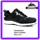 WOMENS LADIES  GIRLS  ULTRA LIGHTWEIGHT STEEL TOE CAP SAFETY TRAINER SHOES