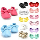 New Child Baby Girls Kids Bowknot Tassel Fine Leather Shoes Moccasin Soft Sole
