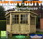 Garden Corner Summerhouse Garden Shed Delivered & Fitted Timber Cladding Treated