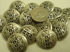 New Military Metal Royal Crest Silver Finish Buttons sizes 1 inch,7/8, 5/8  #S14