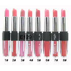 1PC 8 Colors Hot Women 2 in 1 Lipstick Lip Gloss Double-End Makeup Cosmetic