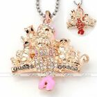 Gold Plated Crystal Xmas Christmas Santa Claus Charms Pendant Bead Fit Necklace