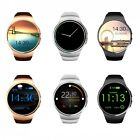 "KW18 1.3"" OGS Smart  Watch Bluetooth 4.0 GSM Phone Mate for Heart Rate Sleep"