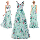 New Womens FLORAL Cocktail Evening Party Dress Formal V-Neck Bridesmaid Dresses