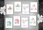 Baby thank you cards x 10 Girl or Boy (4A - 4H) Personalised