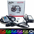 Flexible RGB 5050 SMD (Non)Waterproof 300 LED Strip Light + IR Remote +12V Power