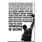 Rocky Balboa Motivational Quote Silk Poster 12x18 24x36