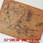 Vintage Wall Poster Narnia Harry Potter Wizarding World Map Lord of the Ring